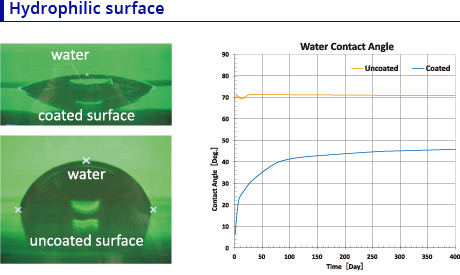Hydrophilic surface